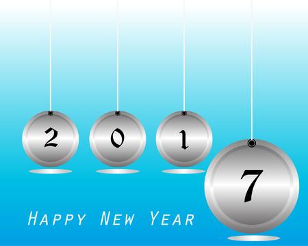 2017 Happy New Year Background Illustration
