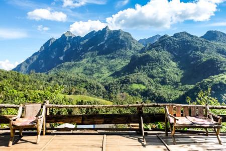 Beautiful Doi Luang Chiang Dao high mountain in Chiang  Mai Province, Thailand.