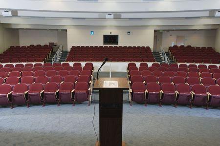 Empty conference auditorium