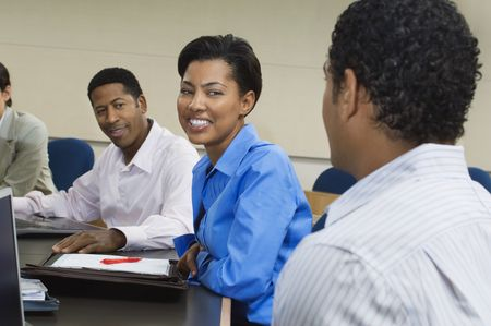 Business people sitting in classroom Stock Photo - 3540743