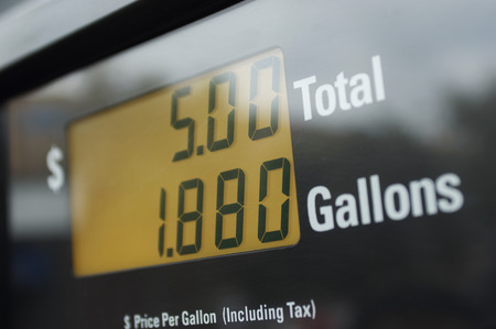 Screen of gas pump, close-up Stock Photo - 3811137