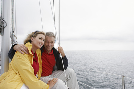 Couple on yacht Stock Photo - 3811128