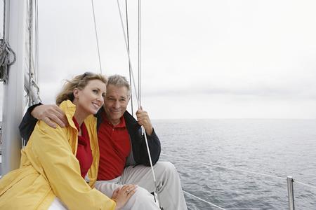 Couple on yacht Stock Photo - 3811128