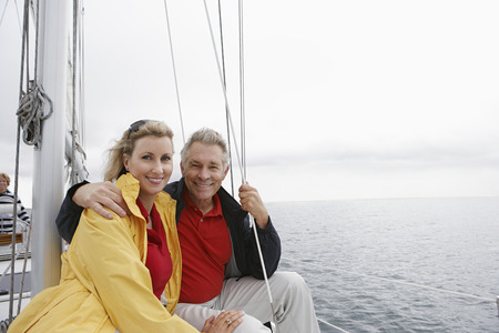 Couple on yacht, portrait Stock Photo - 3811114