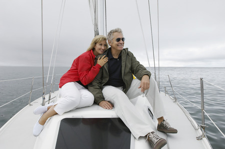 Couple relaxing on yacht Stock Photo - 3811160