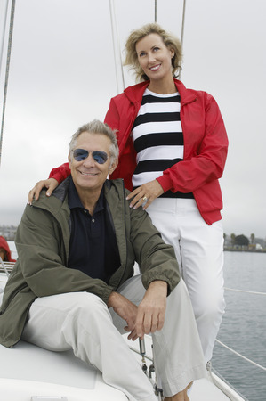 Couple on yacht Stock Photo - 3812216