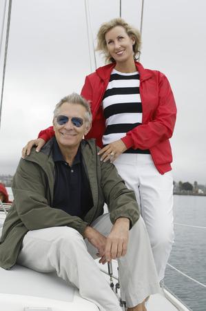 Couple on yacht Stock Photo - 3812216