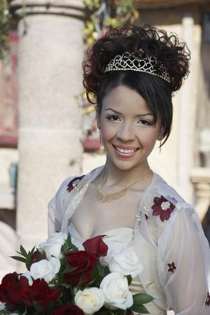 Bride with bouquet, portrait Stock Photo - 3812185