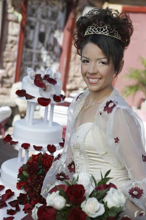 Bride with bouquet, portrait Stock Photo - 3812245