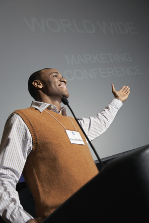 Business man giving presentation at conference meeting Stock Photo - 3813159