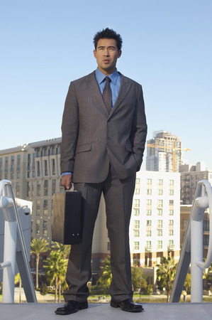 Portrait of businessman on street Stock Photo - 3811264
