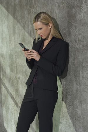 Businesswoman text messaging Stock Photo - 3813204