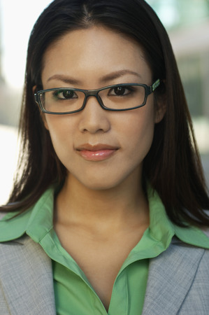 Portrait of mid adult woman wearing glasses Stock Photo - 3811249