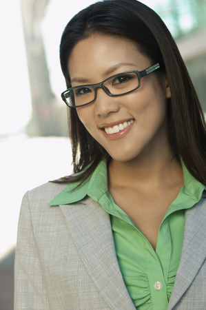 Portrait of mid adult woman wearing glasses Stock Photo - 3813150
