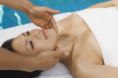 Young woman having massage at health spa Stock Photo - 3811365