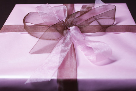 Present with ribbon, close-up Stock Photo - 3811492