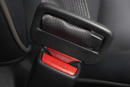 Fastened seat belt, close-up Stock Photo - 3811477