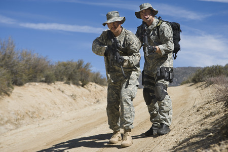 Two soldiers during training Stock Photo - 3811706