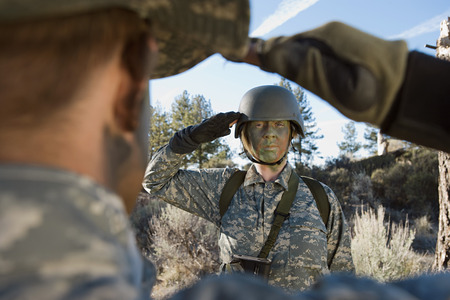 Soldiers saluting Stock Photo - 3811663