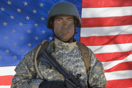 Portrait of US army soldier Stock Photo - 3811652
