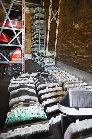 Old car parts in junkyard Stock Photo - 3812101