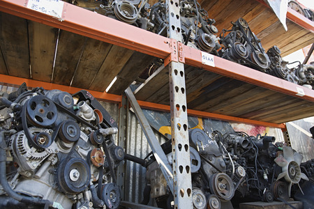 Car engines in junkyard Stock Photo - 3812098