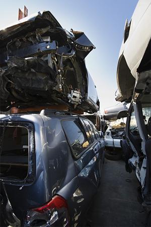 Cars in junkyard Stock Photo - 3811933