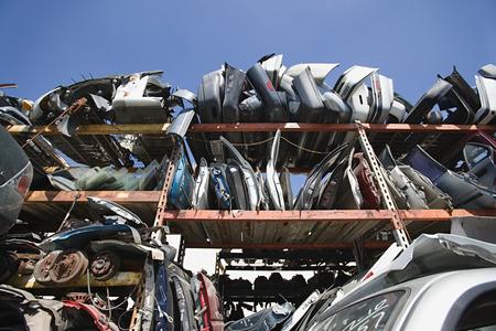 Car parts in Junkyard Stock Photo - 3811986
