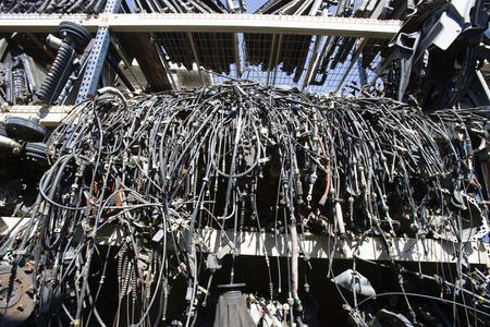 Old cables in junkyard Stock Photo - 3812150