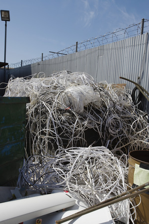 Pile of cables in recycling centre Stock Photo - 3812088