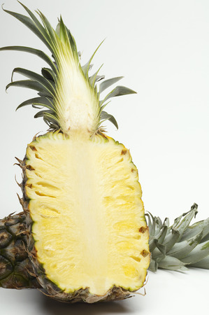 Halved pineapple Stock Photo - 3812978