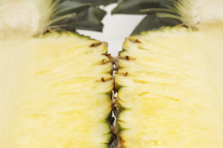 Halved pineapple, close-up Stock Photo - 3812890
