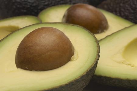 Studio shot of halved avocados Stock Photo - 3813028
