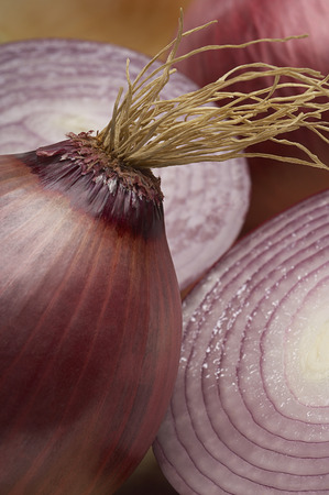 Red onion, close-up Stock Photo - 3813055