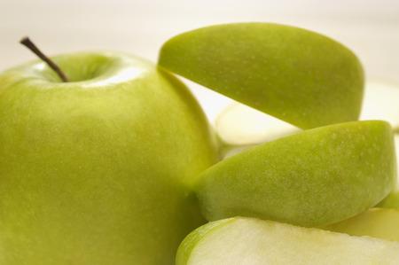 granny smith apple: Granny smith apple with peel