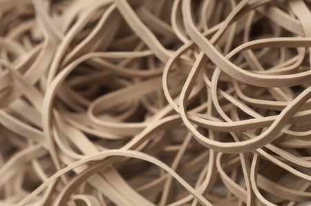 Heap of white rubber bands