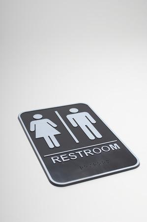 female likeness: Restroom sign