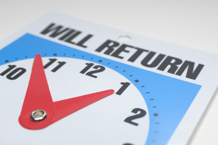 Will return clock, close-up Stock Photo - 3812866