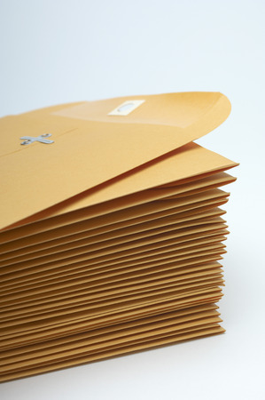 Stack of brown envelopes Stock Photo - 3812961