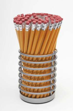 New crayons dans un contenant Banque d'images - 3812860