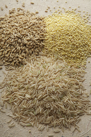Heaps of grain Stock Photo - 3813107