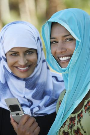 Portrait of two women in headscarfs Stock Photo - 3906358