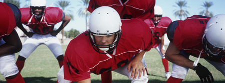 American football players during game Stock Photo - 3906339