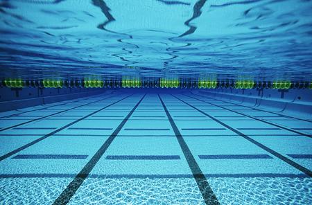 Empty swimming pool, underwater view Stock Photo