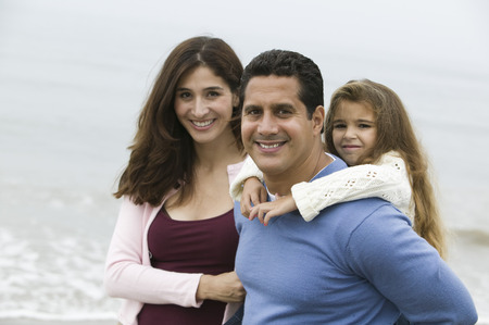 Family on beach, portrait Stock Photo - 4926044