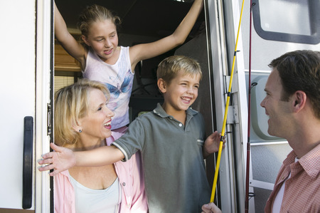 Family in camper van Stock Photo - 4926102