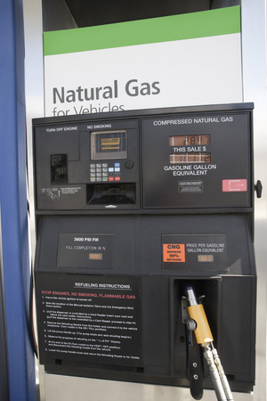 gas station: Gas station fuel pump  with natural gas LANG_EVOIMAGES