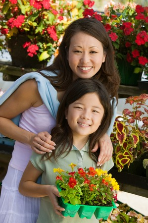 opting: Mother and Daughter Selecting Plants