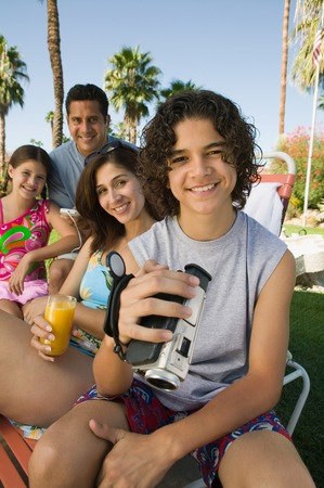 Family Together Outside Stock Photo - 5404709