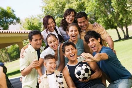 Group Posing for Digital Camera Stock Photo - 5412278